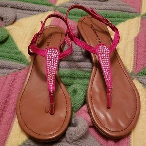 Hot pink crystal Madden Girls sandels